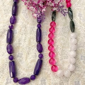 2 Beaded necklaces